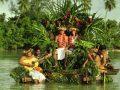 Cérémonie au Tiki Village, Moorea. Wedding ceremony.